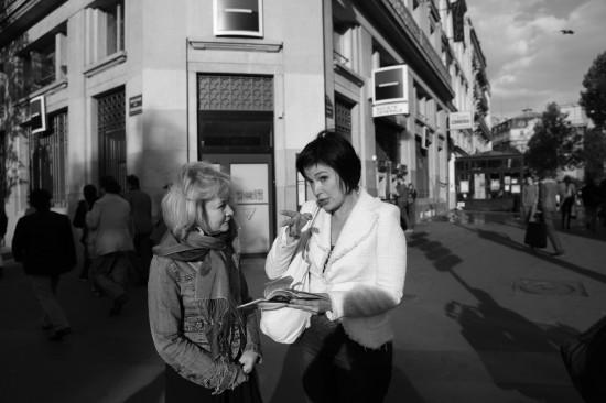 Люся Андрейченко, Лина Нестерова. Париж. Сфотографинила Галина Пилипенко