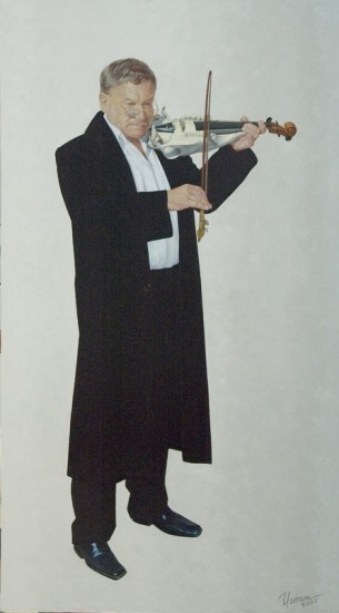 Олег Игнатов.Начало.Народный артист России Н.Сорокин. х.м.160х90., 2007 год