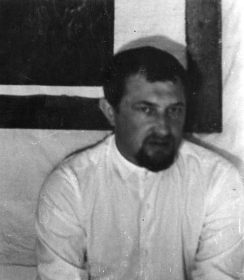 Жданов Александр Павлович. в мастерской. Ростов-на-Дону. 1969 год