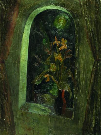 Валерий Кульченко. Ночное окно. Холст. Масло.113х75.1975 год