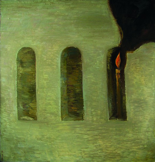 Валерий Кульченко. Свеча. Х., м., 110х100, 1987 год