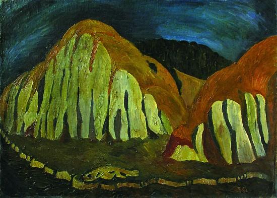 Валерий Кульченко. Время золотых холмов. Х., м. 60х80. 1980 год