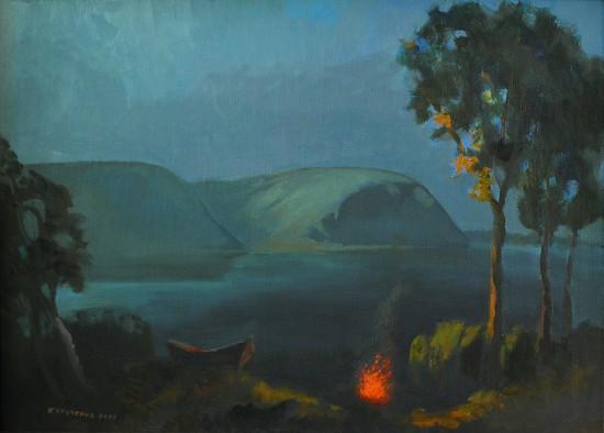 Костерок. Холст, масло, 60х80, 2001 год