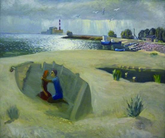 Валерий Кульченко. Любовь и атом, холст, масло, 70х80 см, 2000г.