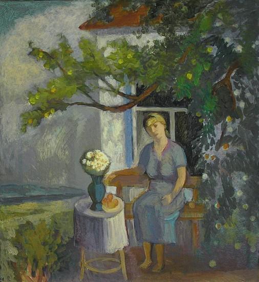 Донская казачка Татьяна Петровна. Картон, акрил, 90х90, 2006 год