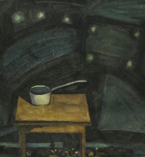 Ковш земной, ковш небесный. Картон, темпера. 100х70, 1987 год