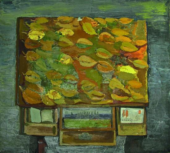 Валерий Кульченко. Падают листья. Х., м. 60 х80. 1985 г.