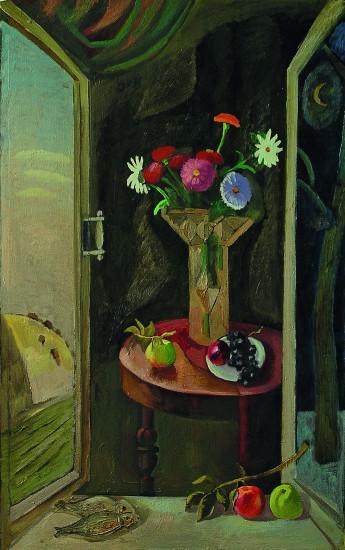 Валерий Кульченко. Цветы и фрукты. Холст. Масло.130х70.1975 год