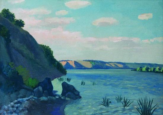 Валерий Кульченко.Дон в районе Калача. Х., м. 60х80. 1988 год