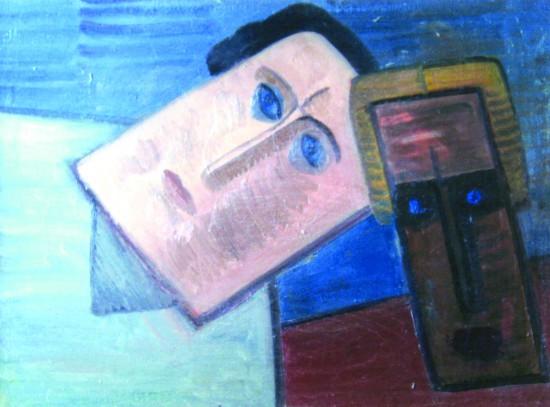 Валерий Кульченко.Два поэта. Х., м., 50 х 70. 1971 год
