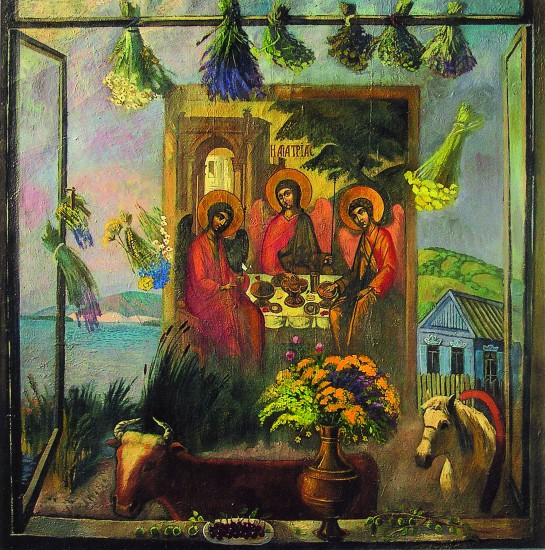 Валерий Кульченко. Троица на Дону. Х.,м. 150х150. 2005 г.