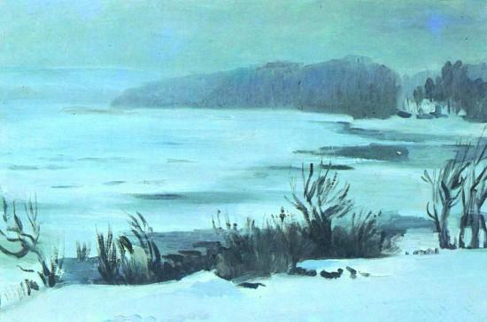 Валерий Кульченко. Февраль на Дону. Х., м, 60х80. 1987 год
