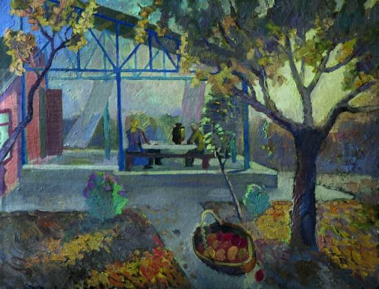 Осеннее солнце. К., м., 70х100. 1999 год.