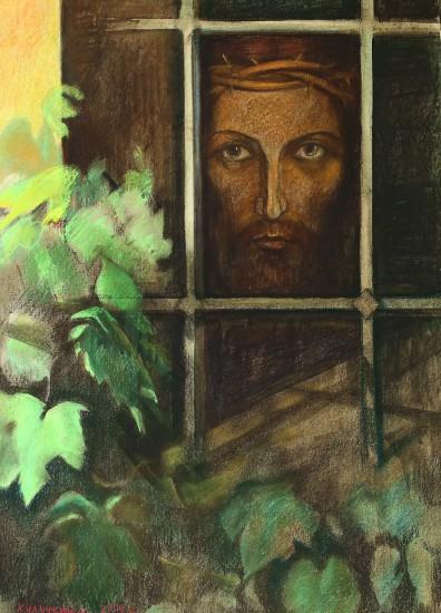 Валерий Кульченко. Христос в темнице. Х., м, 100х70. 2004 год