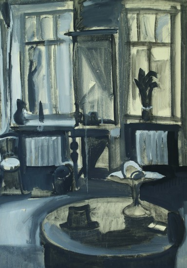 Валерий Кульченко. круглый стол. Картон, акрил. 110х60. 1991