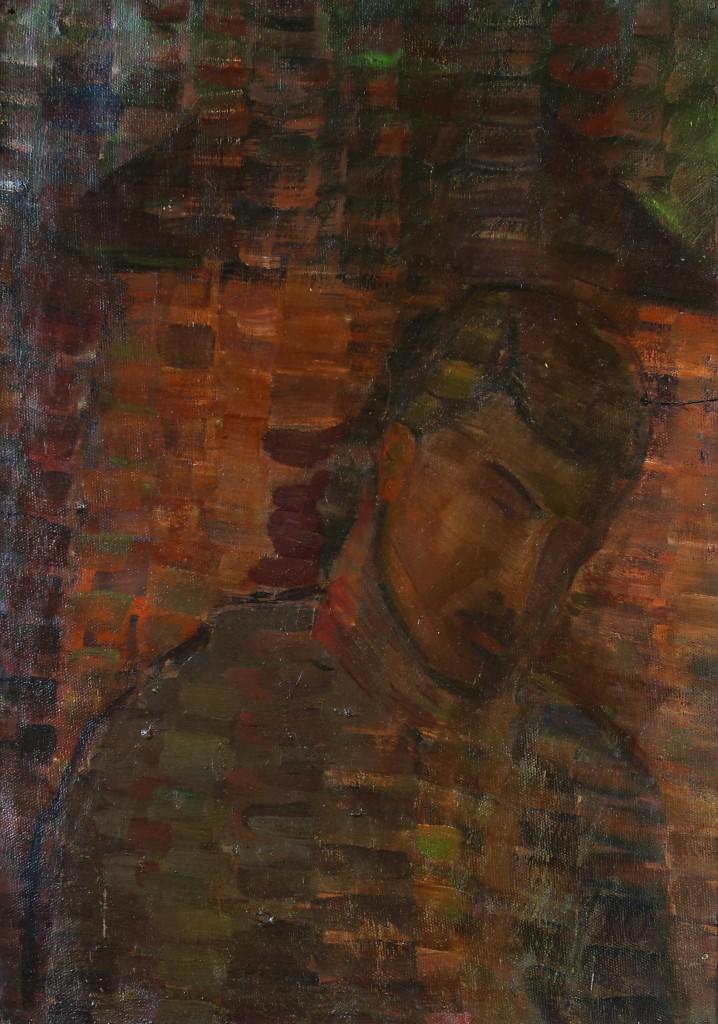 Валерий Кульченко. Ночной портрет. (Жданов А.П.) К., м. 70х50. 1968 год