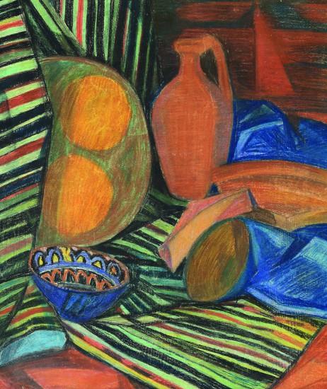 Валерий Кульченко. Узбекская керамика. Б., пастель. 40 х70, 1975 г.