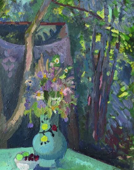 Валерий Кульченко. Букет в саду. Х., м. 50 х40. 2012 год