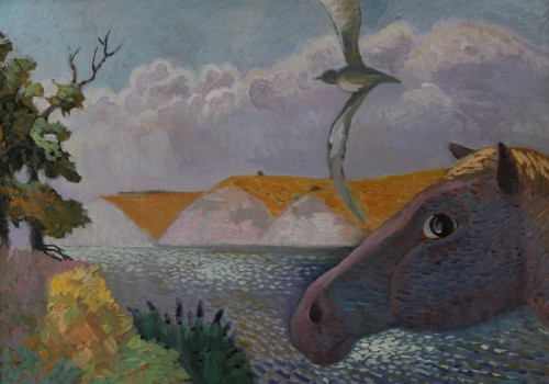 Валерий Кульченко. Степная река. К., т.,акрил. 50 х 70. 2005 г.