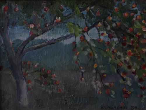 Валерий Кульченко. Райские яблоки. Х., м. 50 х 70, 2010 г.