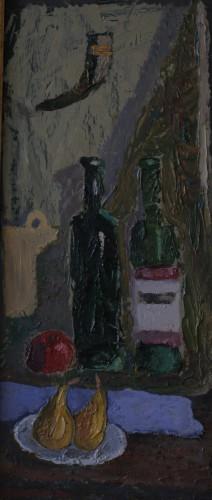 Валерий Кульченко. Тет-а-тет. Картон, масло. 50 х 25, 2009 г.