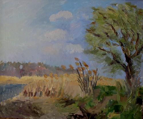 Валерий Кульченко. Весенний ветер. Холст, масло. 50 х 60, 2006 г.