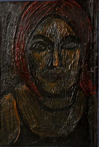 Валерий Кульченко. Ночной портрет. К., м. 30 х 40, 1965 г.
