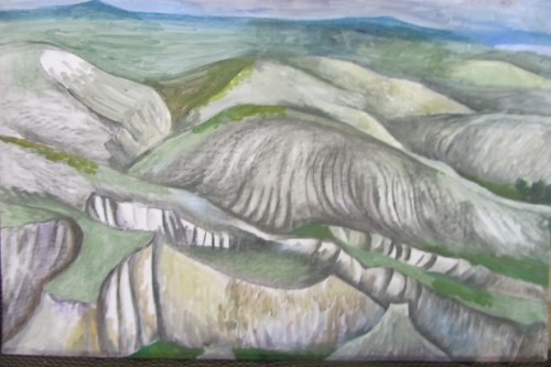 Валерий Кульченко. Меловые кручи. 75х58. Бумага, гуашь, пастель.(2015 год)