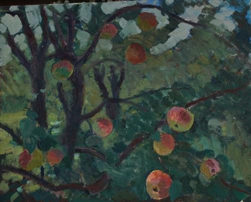 Валерий Кульченко. Райские яблоки. 60х80. Картон, масло. 2014 год