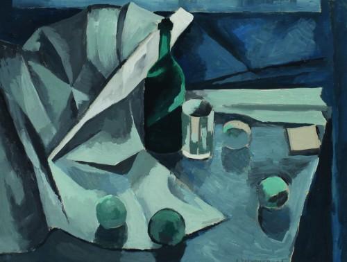 Валерий Кульченко. Голубой натюрморт. Картон,темпера. 60 х80. 1969 г.