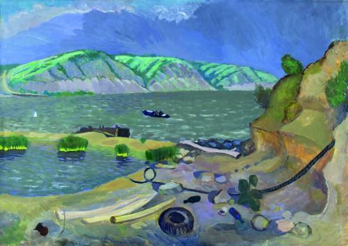 Валерий Кульченко. Левый берег Дона. Бумага, акрил. 58х75,2010г.