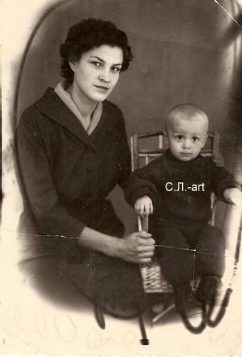 Сергей Ляшенко с мамой