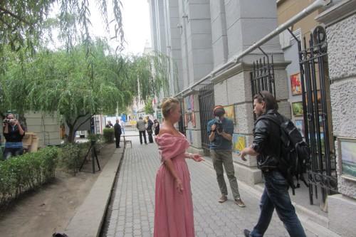 Галю Пилипенко в платье цвета вишнёвой пенки, Андрей Спиридонов, Света Макарова