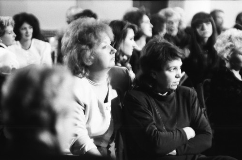 1994 год.Слева - журналист Наталья СЁМУШКИНА. Справа - ОКСАНА ГОРКАВЦЕВА