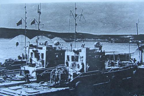 Рабочие катера в Калачевском затоне. Калач-на-Дону. Фото 1978 г.