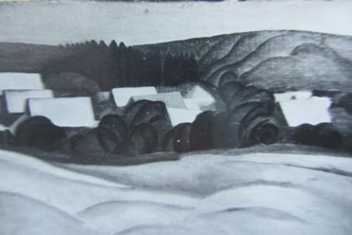 Валерий Кульченко. Пейзаж в Калаче. Х.,м., 50 х 75. 1966 год