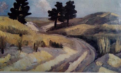 """Валерий Кульченко. """"Голубинские пески"""". Х.,М. 60х80, 1980 г."""