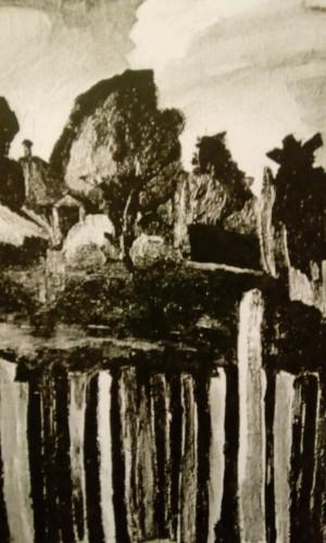 Валерий Кульченко. Катеринин двор. Калач-на-Дону. Х., м. 80х60. 1975