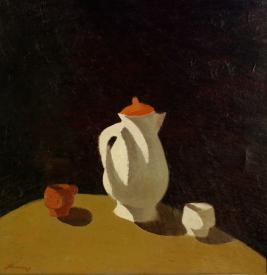Виктор. Свет, тень и кофе. 1990г. х.м. 73х75см.