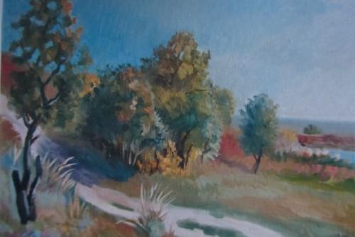 Валерий Кульченко. Белая дорога. 2003 год. Холст, масло. 60 х 80.