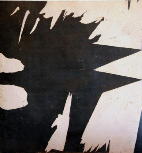 "Александр Жданов. ""Автопортрет как взрыв"". 1982 год. Картон, графика. 90,2х84."