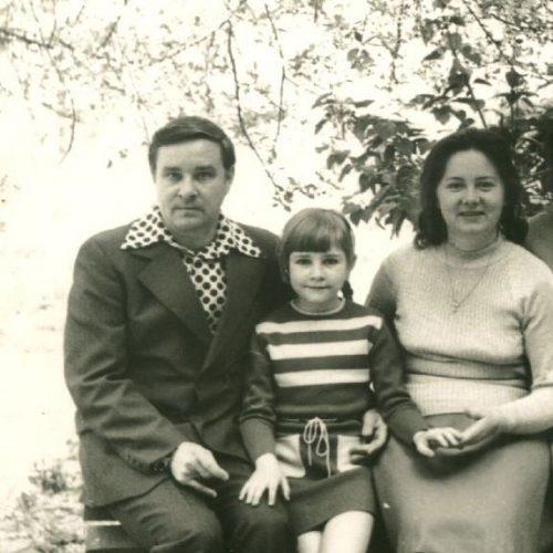 Анатолий Пилипенко - папа, сестра Людмила (теперь Андрейченко) и мама - Валентина Пилипенко