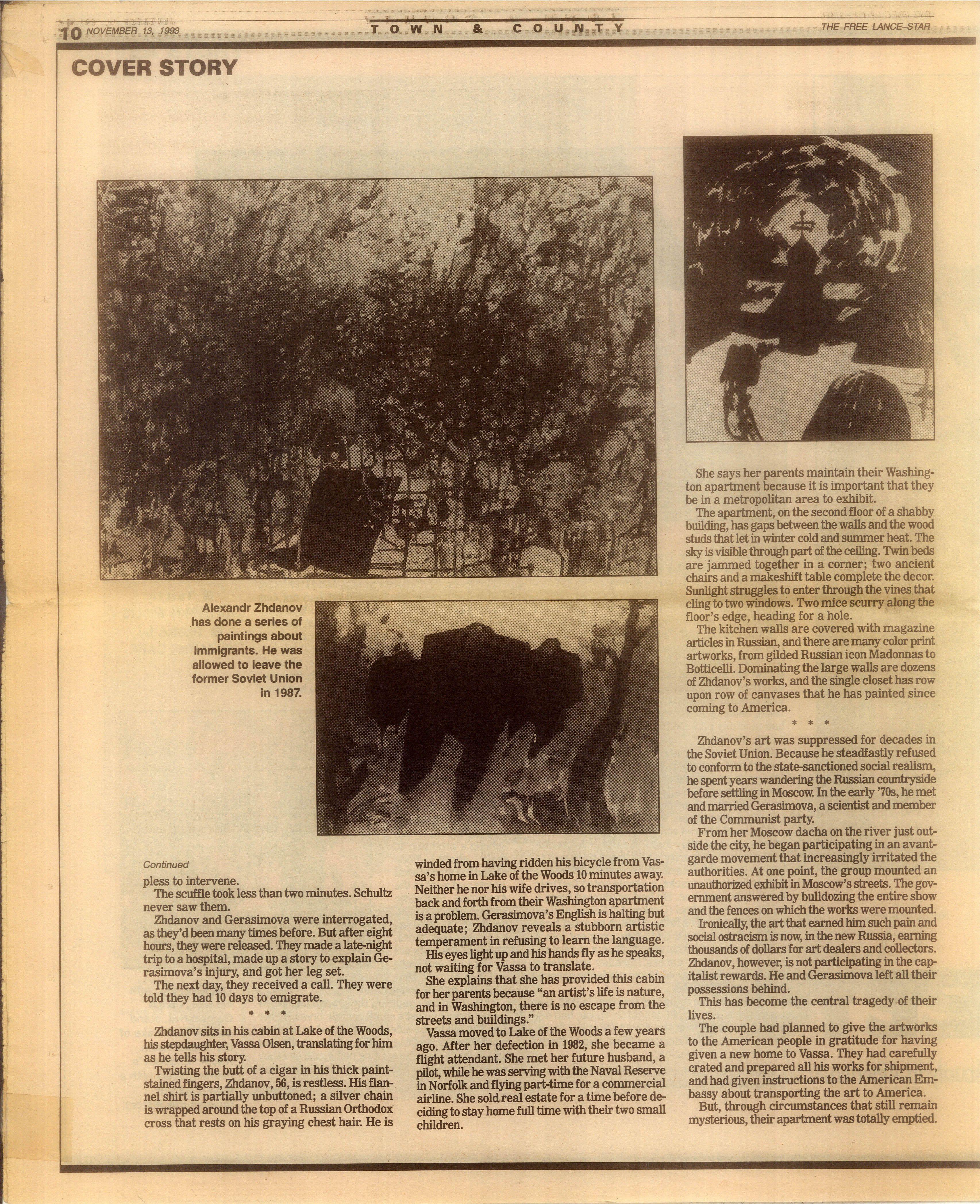 Скрин статьи Кэтрин Уиллис (Kathryn Willis) и фотографа Сьюзан Карр (Suzanne Carr), побывавших в доме Александра Жданова в Вашингтоне.