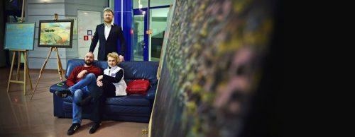 Сергей Пименов, Максим Ильинов, Галина Пилипенко. Дружеский портрет сделал Глеб Садов