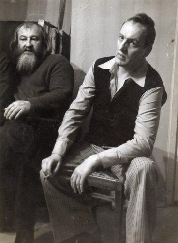 Александр Жданов, Леонид Стуканов. Москва, 1984. Фото Л. И. Пузина