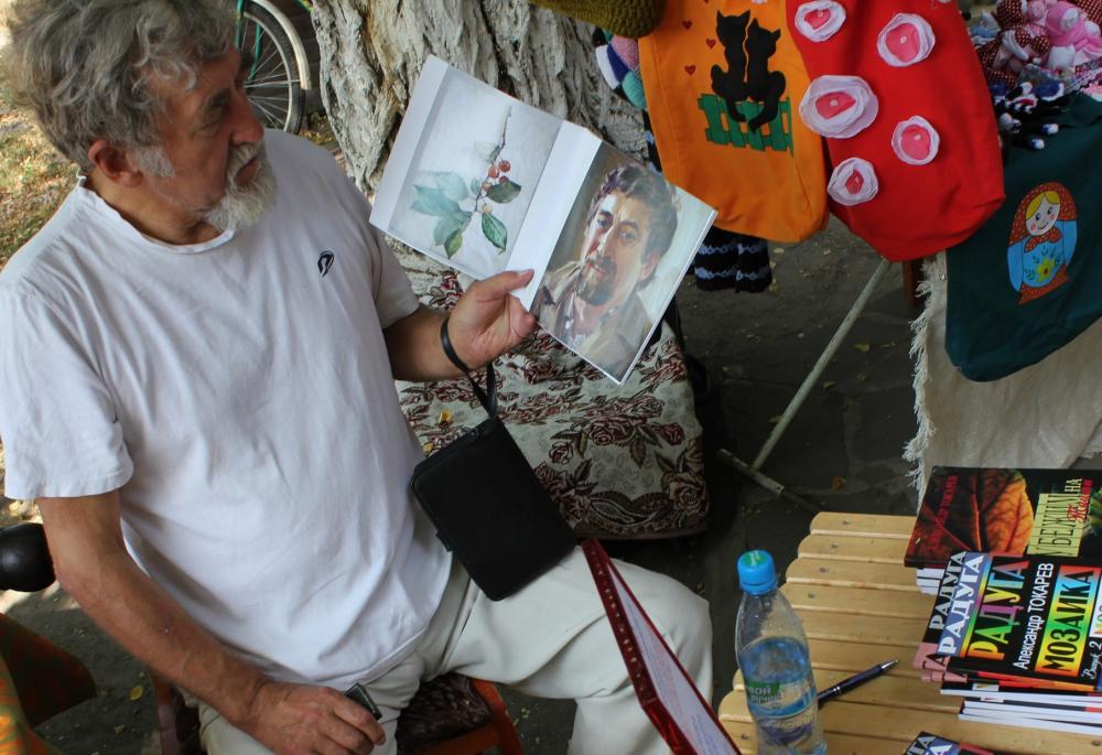 Александр Павлович Токарев - талантливый и многими любимый искусствовед. Старочеркасск, июль 2012 года