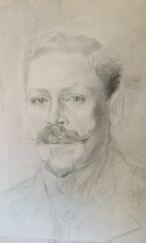 Отец Раисы Бариновой. Его фамилия Пипко. РисунокВиктора Баринова.