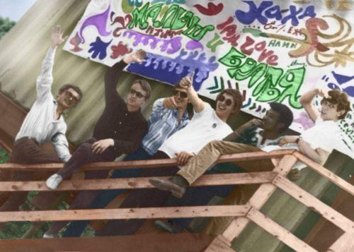 Вудсток-на-Дону-69 - группа УТРЕННЯЯ РОСА — с Саша Пиротехник, Женя (Джон) Хохлов, Vladimir Sher, Бен Абдель-Крим и Евгений Катенев.