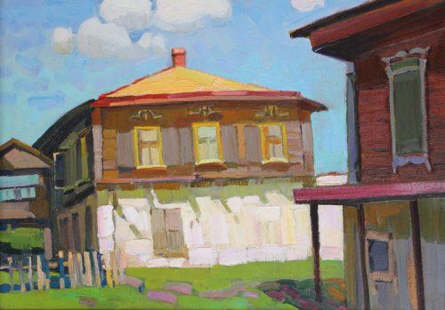Пётр Келлер. Казачий дом в станице Старочеркасской, 1978, к., м., 48х69