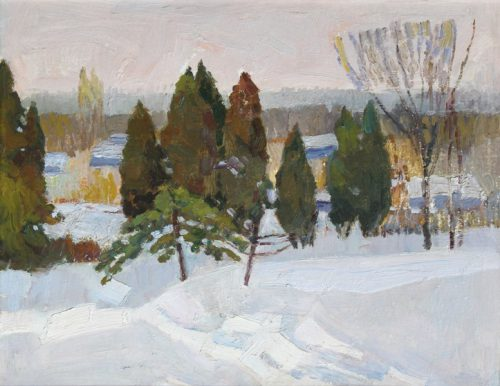 Пётр Келлер. Первый снег, к., м., 38х49